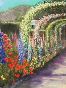 Tuin van Monet  40 x 50 cm Giverny (2015) € 350