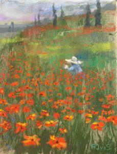 Klaprozen Giverny 50 x 60 cm (2015) verkocht