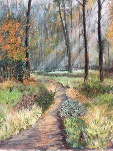 Paadje in Bos van de Heihut  60 x 70 cm (2015) verkocht